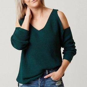 NWOT Anthropologie Daytrip cold shoulder sweater